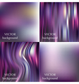 Abstract colorful blurred smooth backgrounds set vector image