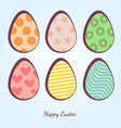 cartoon easter eggs vector image