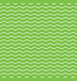 green waves seamless pattern vector image