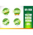 100 fresh badge logo