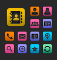 Contact icon set gummy theme vector | Price: 1 Credit (USD $1)