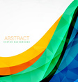 abstract colorful wave design background vector image vector image