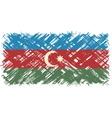 Azerbaijani grunge flag vector image