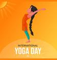 banner design of international yoga day vector image
