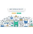 Best Coffee Shop In the City - website banner vector image vector image