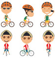 bicycle rider boys vector image vector image