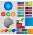Big set of different colored buttons Trendy modern vector image vector image