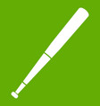 black baseball bat icon green vector image vector image