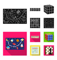 board game blackflat icons in set collection for vector image vector image