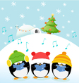 Caroler Penguins vector image