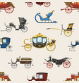 carriage vintage transport with old wheels vector image vector image