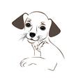 Cartoon cute outline dog vector image vector image
