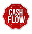 cash flow label or sticker vector image vector image