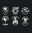 chef and kitchen concept badges collection set vector image vector image