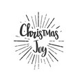 christmas joy wishes lettering in doodle style vector image