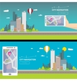City internet navigation concept web banner vector image