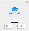 cloud game logo design template icon element vector image vector image