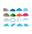clouds set design logo vector image