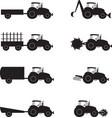 collection icons showing tractor assembly vector image vector image