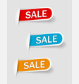 collection sale banners labels tags tally vector image vector image