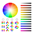 color wheel with shade of colorscolor harmony vector image