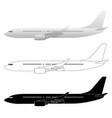 commercial airliner jet vector image vector image