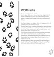 cover design with traces of forest animal vector image