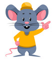 cute mouse on white background vector image vector image