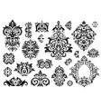 damask ornament vintage floral sprigs pattern vector image