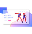 dancing breakdance freestyle party landing page vector image