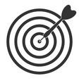 darts arrow target icon vector image vector image