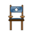 director wooden chair vector image