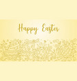 easter doodle background vector image vector image