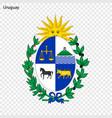 emblem of uruguay vector image