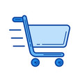 fast shopping line icon vector image