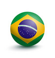 flag of brazil in the form of a ball vector image