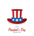 flat presidents day vector image vector image