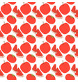 fruit pattern with color red vector image vector image