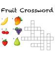 fun fruit crossword background vector image