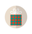gift box surprise for holiday flat color icon vector image