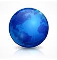 Globe blue sphere earth on white vector image