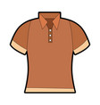 golf shirt uniform icon vector image