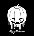 happy halloween logo icon design vector image