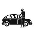 hijacker icon simple style vector image