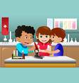 kids learning science in a lab vector image vector image