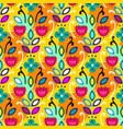 mexican folk seamless pattern vector image vector image