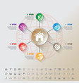 modern infographic complement template with 7 vector image