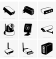 Network equipment vector image vector image