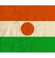 Niger paper flag vector image vector image