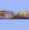 no people city street buildings road view vector image